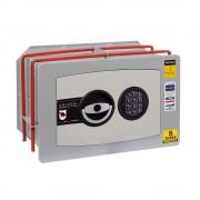 Seif de incastrat in perete inchidere electronica Planet Safe W.2315.E 230 x 350 x 150 mm
