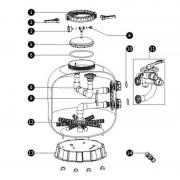 Bain et Confort N°11 - Vanne 2'' filtre PRO & SUPERPOOL pour filtre à sable