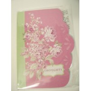 "Michaels Shaped Lillac Blossoms Perfect Paperback Journal ~ Flowers on Purple with Green Edge, ""Thou"