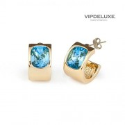 Vipdeluxe-Swarovski Orecchini santorini Blu donna