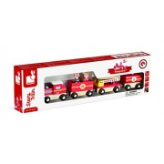 Juratoys Story Firefighter Train Wooden Train
