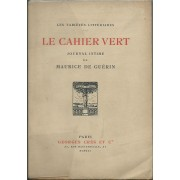 Le Cahier Vert. Journal Intime