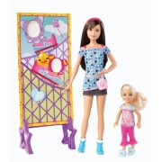 Barbie - Muñecas Skipper y Chelsea: parque de atracciones (Mattel X9069)