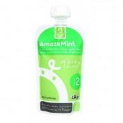 Oh Baby Foods Organic Baby Food - Textured Puree - Level 2 - AmazeMint - 4 oz - Case of 6