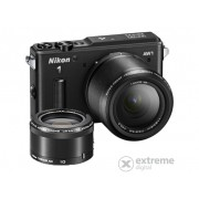Aparat foto Nikon AW1 kit (obiectiv AW 11-27,5 mm + AW 10mm), negru