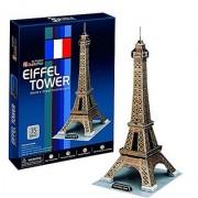CubicFun C044H Eiffel Tower Puzzle Gold