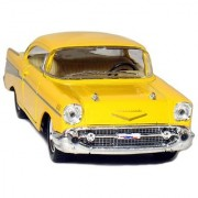 Castle Toys Box: 5 1957 1:40 Scale Chevy Bel Air Coupe Vehicle (12 Piece) Black/Blue/Red/Yellow