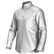 Maatoverhemd wit/groen 53321