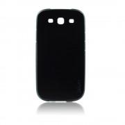 Калъф с кожен гръб – силиконов Fashion Style за Samsung Galaxy s3 черен
