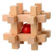 Bolas en jaula de madera Rompecabezas Rompecabezas IQ Toy