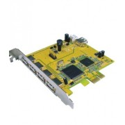 Sunix PCI Express USB 2.0 Card 4 External + 1 Internal Port