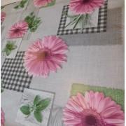 Színes virágos mintás viaszos vászon 98x140cm/Cikksz:0221059