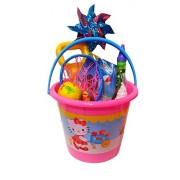 Hello Kitty Fun In The Sun Sand Toys, Sandbox Toys, Beach Toys; Jumbo Sand Bucket & Sand Tools, Water/Pool Toys 13 Pieces