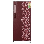 Haier 195 L 5 Star Direct-Cool Single Door Refrigerator (HRD-2157CRD-R, Red Daisy)