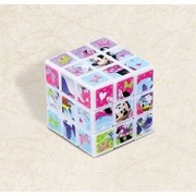Disney Minnie Mouse Puzzle Cube Birthday Party Bulk Favour and Prize Giveaway (1 Piece) Multi Color 1 1/8 x 1 1/8 x