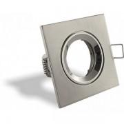 Porta lampada Silver quadrato con attacco GU10