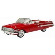 Motormax 1:18 1960 Chevrolet Impala Convertible Vehicle, Red
