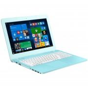 NoteBook Asus Vivobook Intel Pentium N3710 RAM 4GB DD 500GB DVD-RW Windows10 LED 14''-Agua Marina