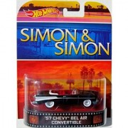 57 CHEVY BEL AIR CONVERIBLE Simon & Simon Hot Wheels 2014 Retro Series 1:64 Scale Collectible Die Cast Metal Toy Car M