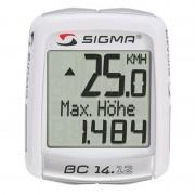 SIGMA SPORT BC 14.12 ALTI Licznik rowerowy biały Liczniki rowerowe przewodowe