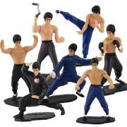 7pcs Set Bruce Lee Enter The Dragon Kung Fu Karate Master PVC Action Figure Gift