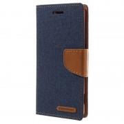 Capa tipo Carteira Mercury Goospery Canvas Diary para Sony Xperia XA, Xperia XA Dual - Azul Escuro