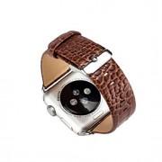 couro de crocodilo 38/42 milímetros para correia de pulso relógio de maçã macio pulseira genuína banda de relógio padrão de pele de cobra
