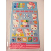 Hello Kitty Glitter Stickers ~ Kitty At The Beach (21 Stickers)