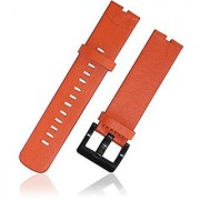 Xiemin Specially Designed Leather Strap Watch Band for Motorola Moto 360 Smartwatch Watchband Strap (Moto 360 Leather Band Orange)