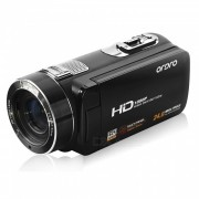 """""""Ordro HDV-Z8 1080P camara de video digital w / 3 """"""""TFT pantalla tactil - Negro"""""""