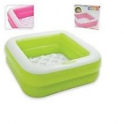 Intex Play Box Inflatable Square Baby Toddler Paddling Swimming Pool Toy