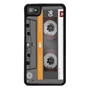 Fuson Premium Tape Cassette Metal Printed with Hard Plastic Back Case Cover for Blackberry Z10