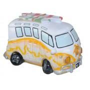 Hucha autobús hippie naranja