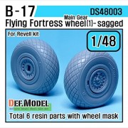 DEF Model 1:48 B-17F/G Flying Fortress Wheel set 1 (for Revell 1/48) #DS48003