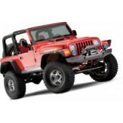 Aripi Bushwacker 6inch/15.5cm FLAT STYLE Negru Mat pt. 97-06 Jeep Wrangler TJ & Unlimited