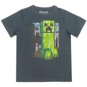 T-shirt Minecraft ciemnoszary creeper