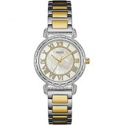 GUESS Gold Metal Round Dial Analog Watch For Women (W0831L3)