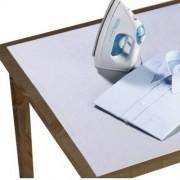 Wenko Tischbügeldecke Aluminium, 125x75 cm, Bügelunterlage Bügeln ohne Brett