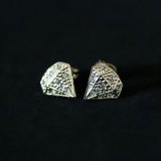 Semi Earring Jewelry Gold Plated Diamond