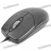 Rapoo M110 USB Cable 1000dpi Raton - Negro (130cm-Cable Longitud / 5 V)