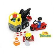 City Construction DIY Custom Play Vehicles - Duplo Compatible Building Brick Toy Set