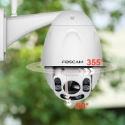 Foscam FI9928P 2.0MP 1080P Pan Tilt 4X Zoom Wireless Outdoor PTZ IP Camera