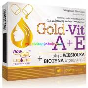 Gold-Vit A+E, 30 db kapszula Ligetszépe olaj 550 mg, Biotin, Ízületi gyulladás, fekélyek, fájdalmas menstruáció - Olimp Labs