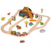 Bigjigs Rail Circuito de trenes con dinosaurios