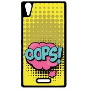 Coque Sony Xperia T3 Oops Fond Jaune