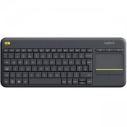 Клавиатура Logitech Wireless Touch Keyboard K400 Plus, Черна, 920-007145