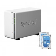 SYNOLOGY DS216J NAS SYSTEM 2-BAY 6TB INKL. 2X 3TB SEAGATE ST3000VN000