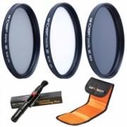KentFaith - Set filtre 77mm UV+CPL+ND4 + Pensula + Husa filtre