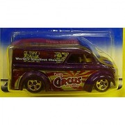 2000 - Mattel - Hot Wheels - Circus on Wheels Series - #4 of 4 - Dairy Delivery (Purple) World's Smallest Circus Clowns Graphics - Gold Wheels - New - Out of Production - Collectible