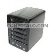 Caja Externa VIPower SATA-HDD a eSATA (5xHDD/Plástico/Negro)